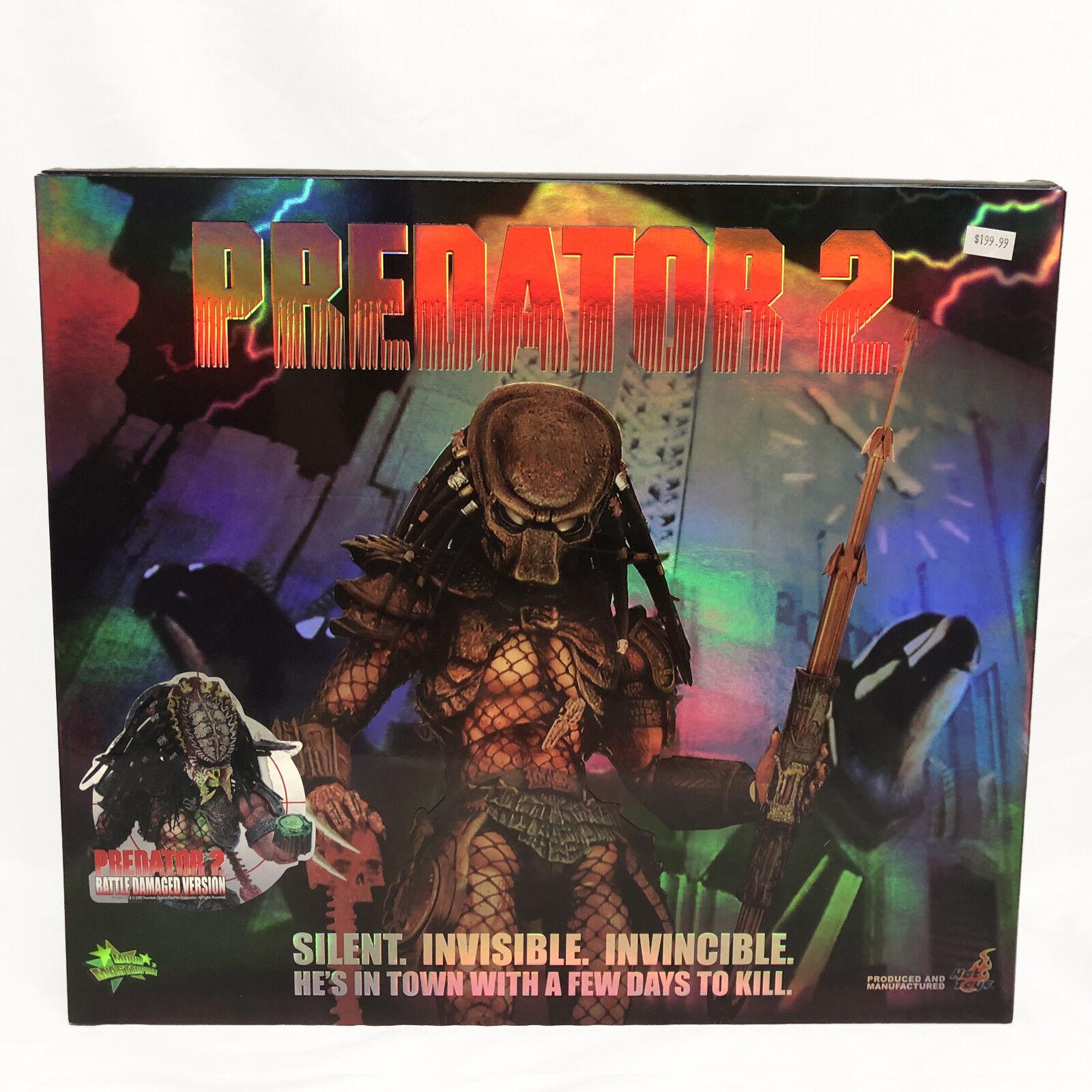 Hot Toys Depredador 2 Battle Damaged versión MMS45 1:6 escala 2018 Nuevo