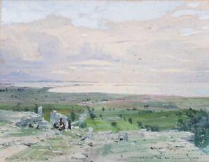 Italienische-Landschaft-bei-Syrakus-Edgar-Meyer-1853-Duesseldorf-Italien