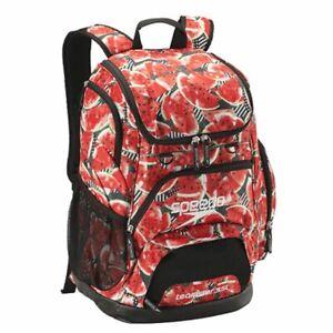 Speedo-Teamster-Backpack-Black-Red-Watermelon-Printed-35L-Swim-bag-Swimming-Ba