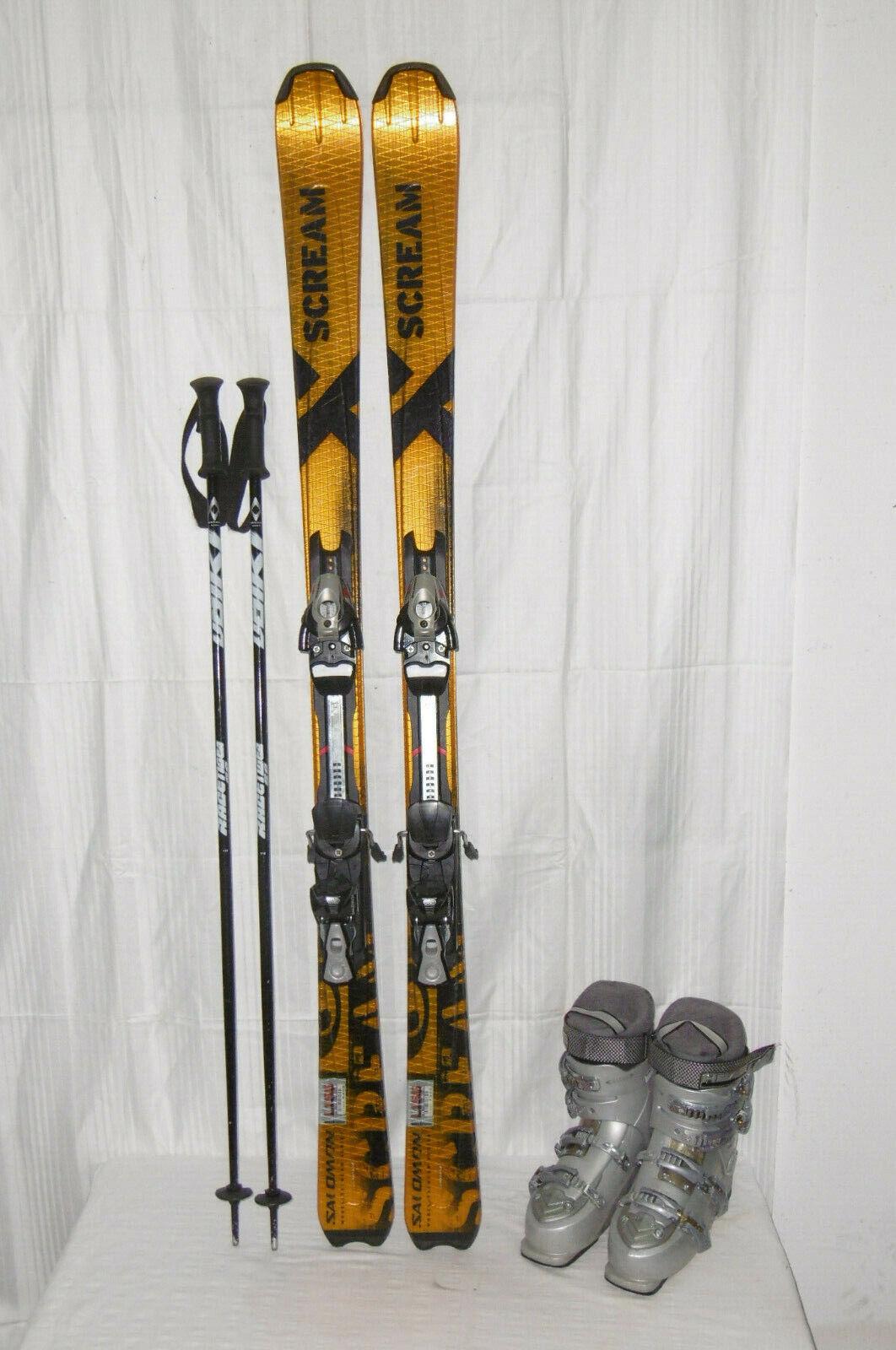 Salomon  Scream  Top Ski Allround Carver 155 cm + Ski Stiefel Größe  41 in Set