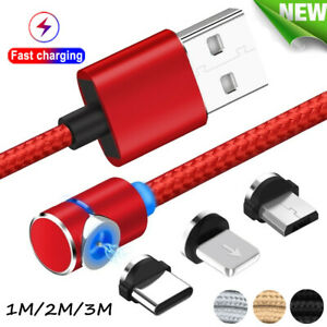 L-Shape-90-Magnetic-Type-C-Micro-USB-Charging-Charger-Cable-For-iPhone-Samsung