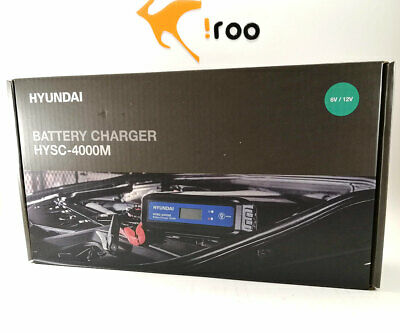 Charges, Maintains Car and Motorcycle Batteries 4 Amp 6v//12v HYSC-4000M Hyundai Smart Charger