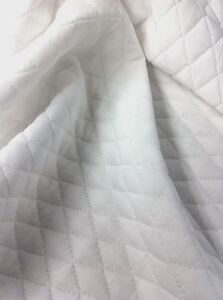White Quilt Pattern Double Knit Polyester Non Stretch