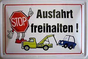 Blechschild Schild 20x30 Cm Spruch Lustig Ausfahrt Frei Auto Stop