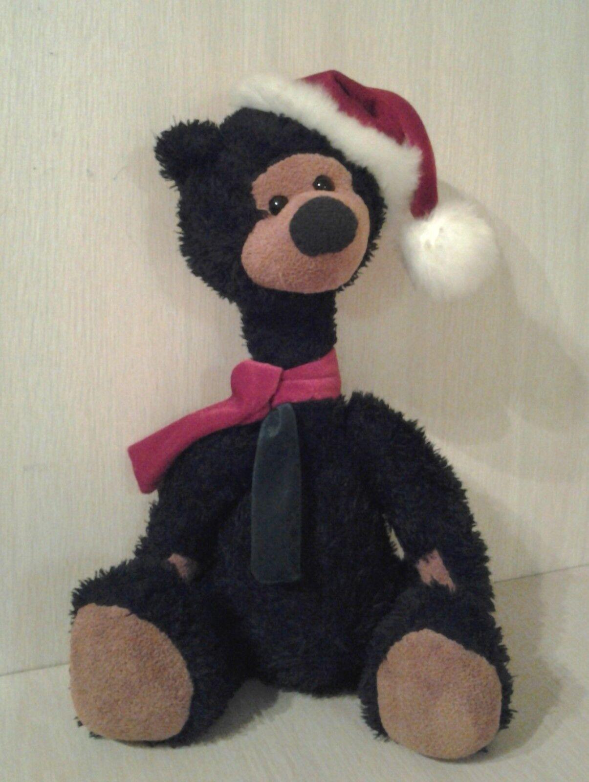 2003 Wishpets Teddy Bear Plush Holiday Christmas stuffed animal Rare HTF 16
