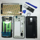 Black Full Housing Case Bezel Frame Screen Glass for Samsung Galaxy Note 4 N910