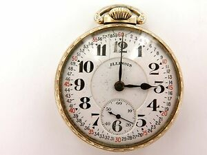 RARE-1920-ILLINOIS-BUNN-SPECIAL-48H-MOTOR-BARREL-16S-23J-10K-RGP-POCKET-WATCH