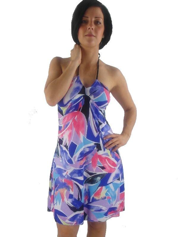 O'Neill O'Neill O'Neill Vestito con Fascia da Bagno Tropical blu Lilla Laccio Al Collo 3e1a21