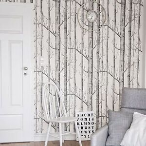 Details About Cole Son Woods Wallpaper Birch Tree Branches Famous Wallpaper Design Love