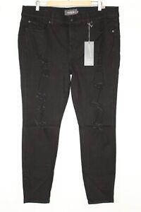 Torrid-Women-039-s-Bombshell-Skinny-Jean-Premium-Stretch-Plus-Size-20-Black-Destroy