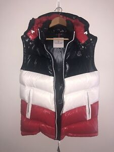 79696a2233c9 Kith x Moncler Pelat Gilet Hooded Vest Size 3 Large in navy red ...