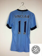 Manchester City SINCLAIR #11 14/15 *PLAYER ISSUED* Home Football Shirt (M) Nike