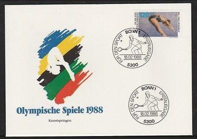 Motive Nett V4652 Brd/ Olympia 1988 Minr 1355 Auf Fdc Sport & Spiel