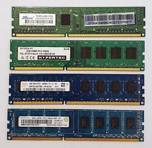 4GB DDR3 Desktop 1333MHz PC3-10600U Non-ECC PC RAM Memory 240 pin DIMM Module