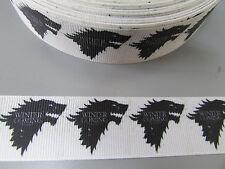 Juego de tronos invierno se acerca de Cinta de Grogrén 2.5cm Costura/Artesanía/pastel