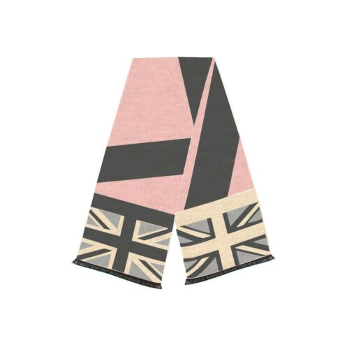 Heritage Traditions Womens Fashion Outdoor Pink British Union Jack Flag Scarf