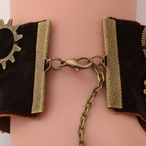 Vintage Steampunk Gear Wrist Cuff Retro Victorian Gear Party Costume Bracelet