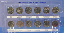MILLENNIUM CANADA 2000 QUARTER SET  ** B.U.** with Sleeve