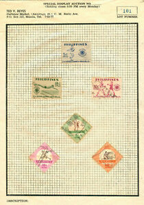 Philippines-1954-2nd-Asian-Games-6-Stamps