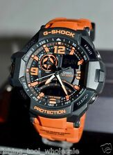 GA-1000-4A Orange Casio Watch G-Shock Analog Digital Compass 200M-WR Resin Band