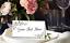 Personalised Pink Floral Table NameCards Birthday Wedding Christening Babyshower