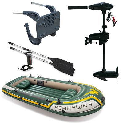 Set Intex Seahawk 4 Schlauchboot Angelboot Aussenbordmotor Heckspiegel Ebay
