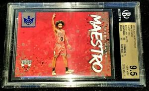 COBY-WHITE-19-20-COURT-KINGS-MAESTROS-SAPPHIRE-PARALLEL-ROOKIE-RC-11-25-BGS-9-5