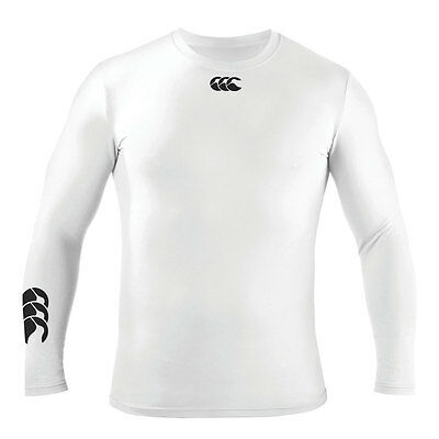Canterbury CCC KIDS Hot Long Sleeve White Baselayer Top - Size Junior Small