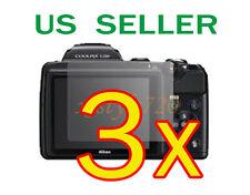 3x Nikon Coolpix L120 Clear LCD Screen Protector Guard Cover Film