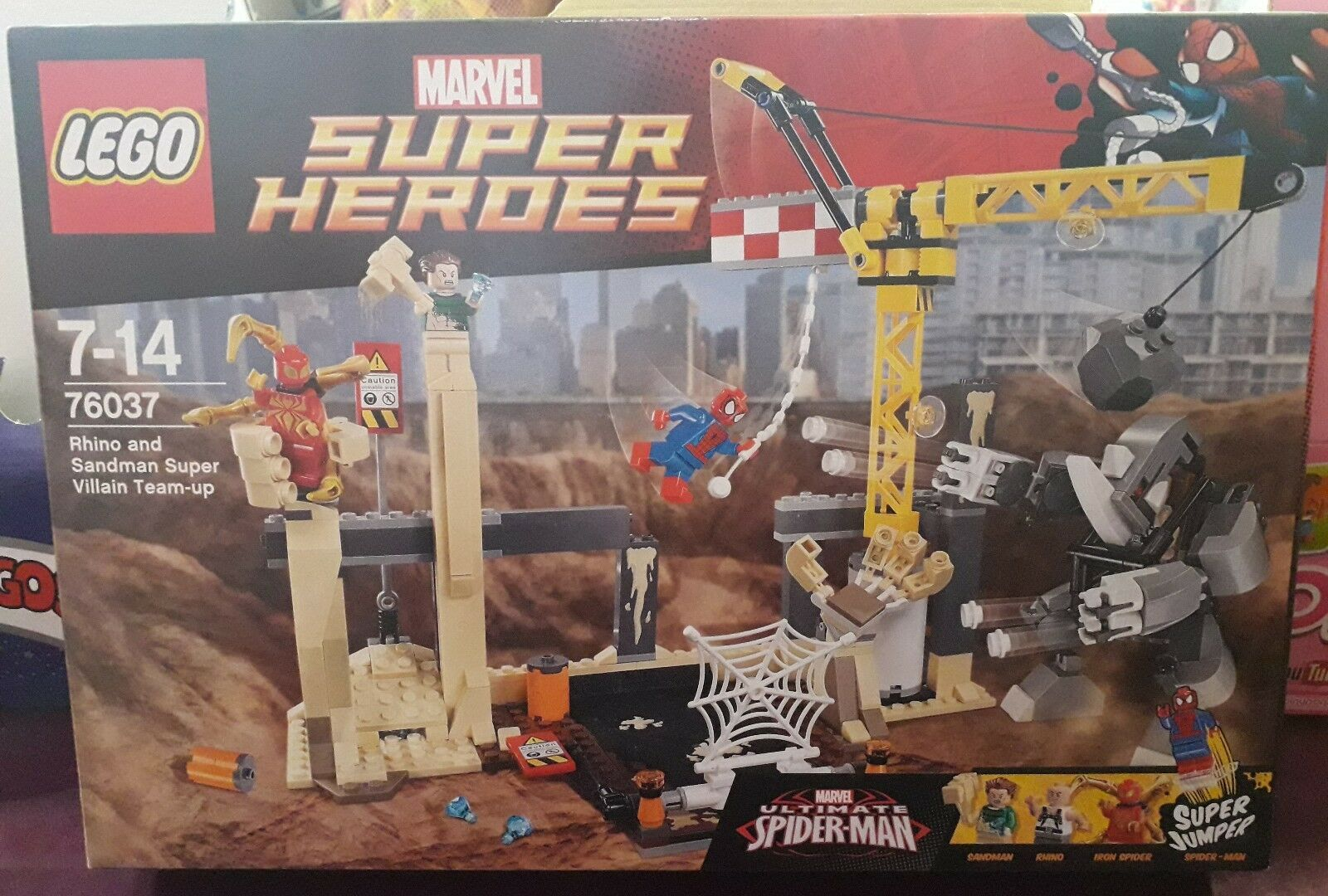 LEGO MARVEL SUPER HEROES 76037 RHINO AND SANDMAN SUPER VILLAIN TEAM-UP