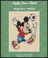 Counted Cross Stitch Mickey Mouse soccer - Complete Kit 10-6 Kit