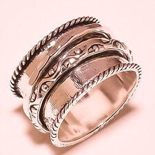 TO TONE BAND RING 925 SILVER HANDMADE JEWELRY FREE SHIPPING S-8.5US  SR1436