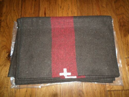 SWISS MILITARY STYLE ARMY WOOL BLANKET CAMPING SURVIVAL 60X84 HEAVY DUTY NEW
