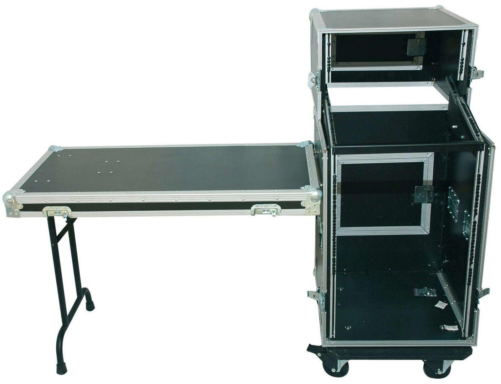 TEGO PRO 5 16 HE Kombicase mit Tisch Winkelrack All in One DJ Rack DJ-Flex Case