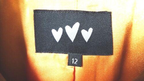 button 5 feel Pockets Once Tan Suedette 12 Autograph Worn Vertical Size Jacket CIwXUnq