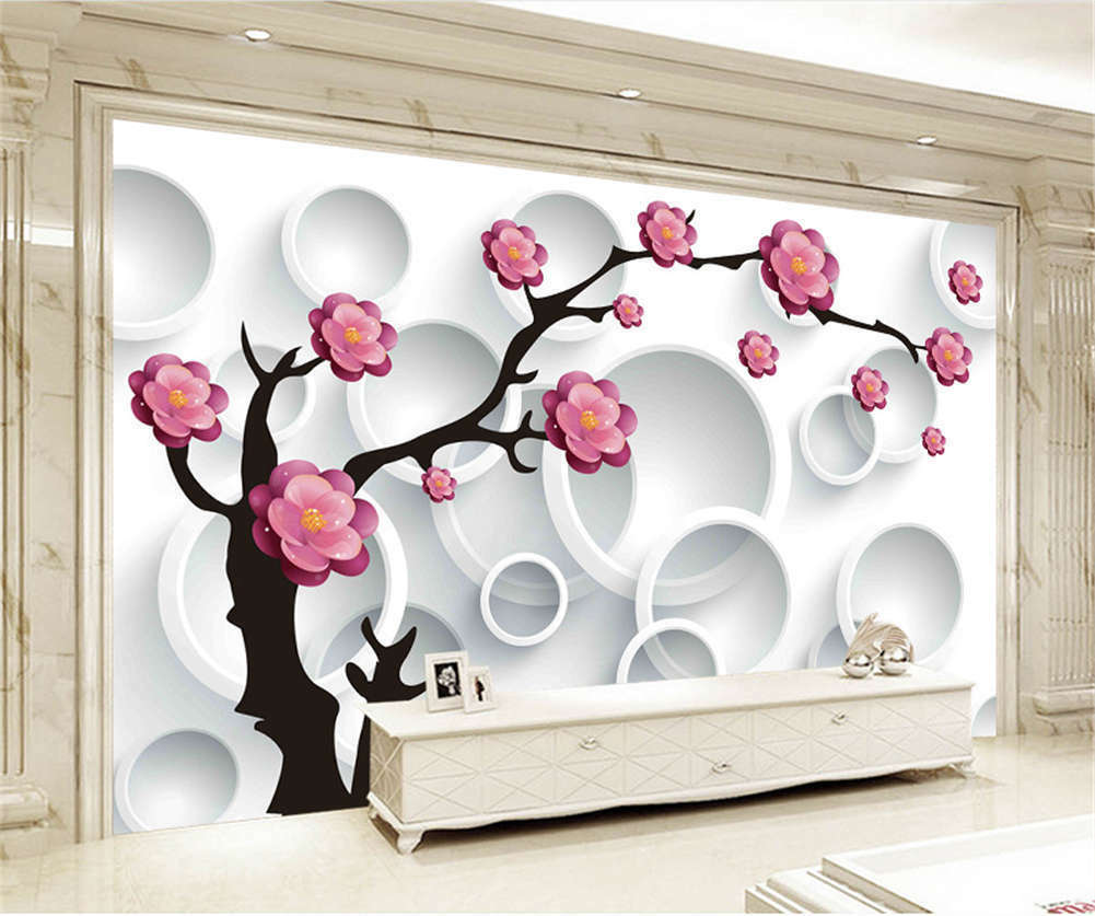 Vast Cardinal Peach 3D Full Wall Mural Photo Wallpaper Printing Home Kids Decor