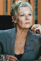 Dame Judi Dench Hand Signed 12x8 Photo James Bond 007.