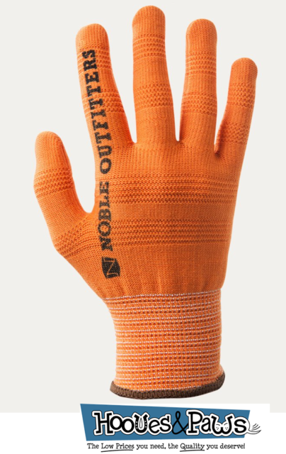 TrueFlex Roping Gloves Noble Outfitters 6 Pack Orange Stars XXS Black XXL