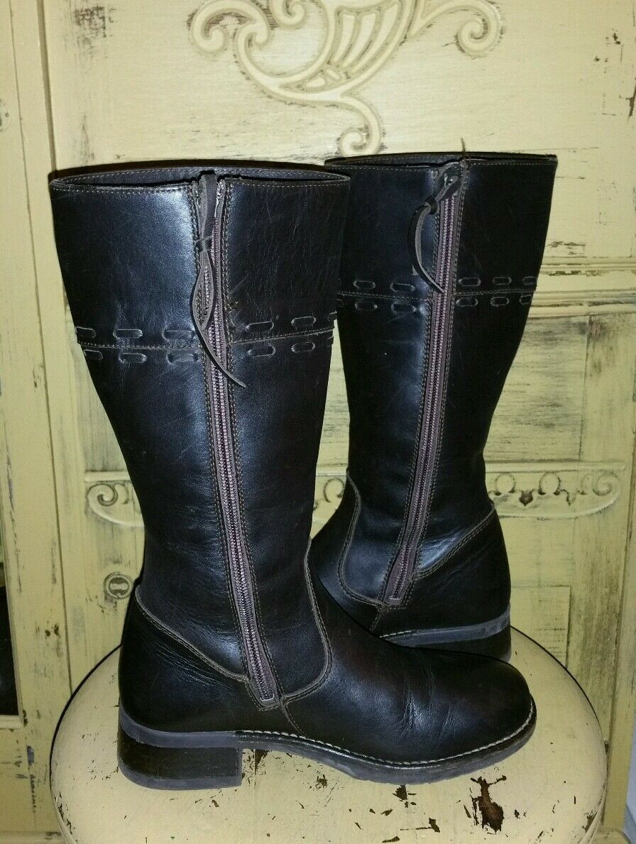LL LEATHER BEAN LEATHER LL BROWN LADIES RIDING Stiefel 6.5  WOVEN BEAUTIFUL 6aee9e