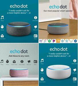 Amazon Echo Dot (3rd Generation) Smart Speaker with Alexa Voice | Brand New!