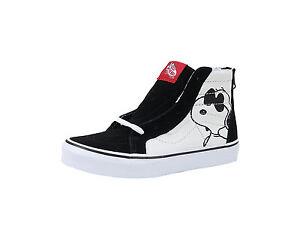 0430d06785 Vans Kids Youths Children Boys Girls Shoes SK8 Zip Canvas Black ...