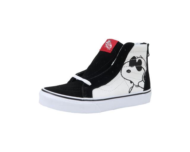 61cb37ede220 Vans Kids Youths Children Boys Girls Shoes SK8 Zip Canvas Black Beige Joe  Cool