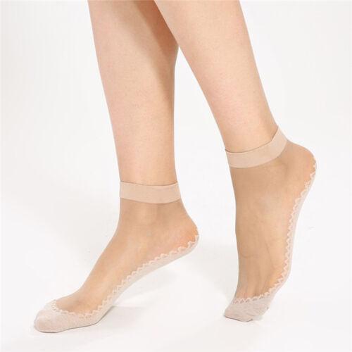10x femmes velours soie chaussettes en coton bas antidérapant Meilleur
