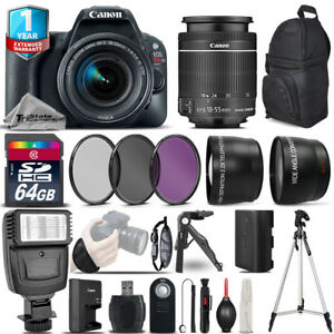 Canon EOS Rebel SL2 DSLR Camera + 18-55mm IS STM + 1yr...