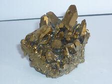 cristalloterapia DRUSA AQUA AURA ORO arcobaleno A+ BOX quarzo cristallo minerale