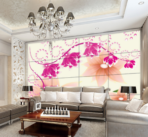 3D Blossom Pink 5369 Wallpaper Murals Wall Print Wallpaper Mural AJ WALL UK Kyra