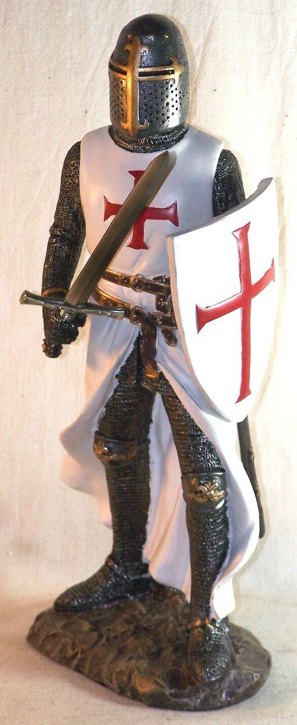 Statuette mittelalterliche - Statuette Ritter - Statuette Tempelritter