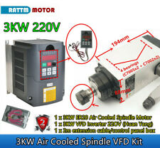 3kw Air Cooled Square Spindle Motor Er20hy 3kw Vfd Inverter 220v Cnc Router Kit