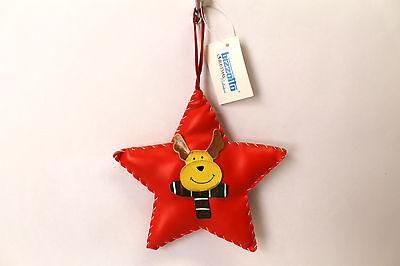 Prezzo Basso Decorazione Albero Di Natale - Stella Imbottita Con Renna - 14x14cm Squisito Artigianato;