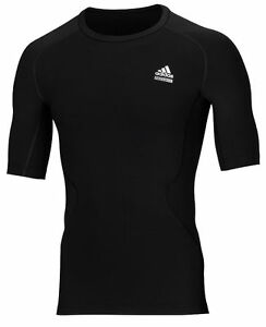 adidas-Techfit-schwarz-Funktionsshirt-Laufshirt-Sport-und-Fitness-Gr-XS